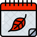 Calendar Autumn Day Dinner Icon