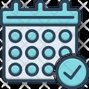 Calendar Check Symbol Icon