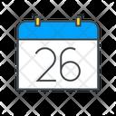 Calendar Date Number Calendar Date Icon