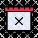 Calendar Date Delete Icon
