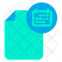 Calendar Document Icon
