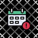 Calendar Error Icon