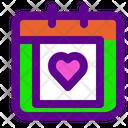 Calendar Love Icon