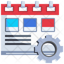 Calendar Management Event Management Timetable Configuration Icon