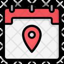 Calendar Map Maps Office Icon