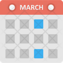Calendar Page Date Reminder Month Of June Icon
