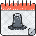 Calendar Pilgrim Day Dinner Icon