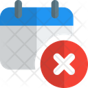 Calendar Remove Icon