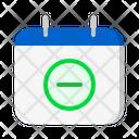 Calendar Remove Remove Cancel Icon