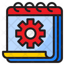 Calendar Setting Setting Gear Icon