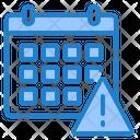Calendar Warning Warning Date Icon