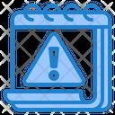 Calendar Warning Warning Sign Icon