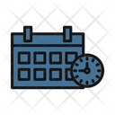Calendar With Clock Icon
