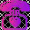 Valentine Day Call Phone Icon