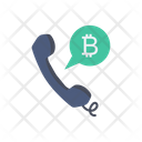 Call Phone Bitcoin Icon