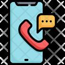 Phone Communication Speaking Icon