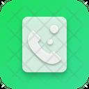 Call Neumorphism Interface Icon