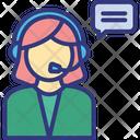 Call Center Customer Service Female Operator Icon