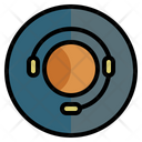 Call Center Headset Support Icon