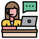 Customer Service Support Woman Icon