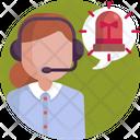 Call Center Alert Communication Icon