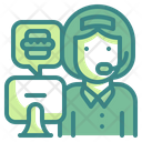 Call Center Headset Assistance Icon