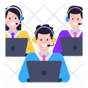 Call Center Csr Team Customer Services Icon