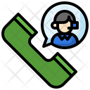 Call Center Assistance Phone Icon