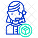 Operator Logistic Call Center Customer Service Icon