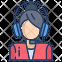 Kartboard Call Centre Female Icon