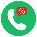 Call Discount Telemarketing Customer Service Icon
