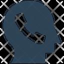 Call Service Head Contact Icon