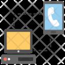 Call Via Internet Icon