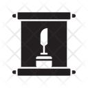 Calligraphy Scroll Feather Icon