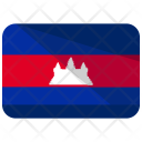 Cambodia Flag Country Icon