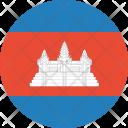 Cambodia Flag World Icon