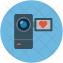 Camcorder With Heart Icon