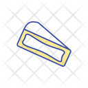 Camembert Cheese Piece Icon