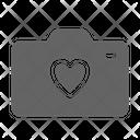 Camera Love Wedding Icon