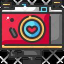Camera Heart Love Icon
