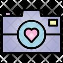 Camera Valentine Heart Icon