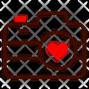 Camera Photo Heart Icon