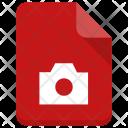 Camera File Paper Icon
