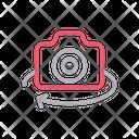 Camera Rotate Virtual Icon