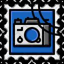 Camera Stamp Square Icon