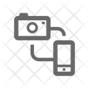 Camera To Mobile Icon