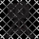 Shooting Camera Tripod Icon