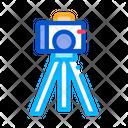 Video Camera Tripod Icon