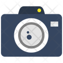Camera With Lens Outline Icon