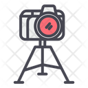 Camera with tripod Icon